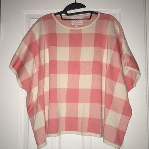 Anthropologie Sweater Checkered Top